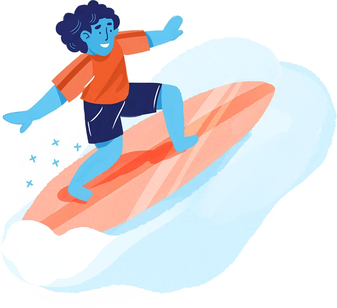 Illustration clascity surf